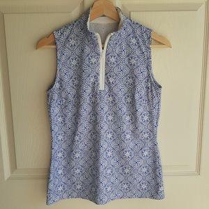 J McLaughlin Blue Catalina Cloth Top Shirt Size XS